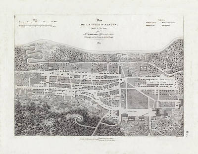 Map Of Agana Village Guam Poster by A Berard