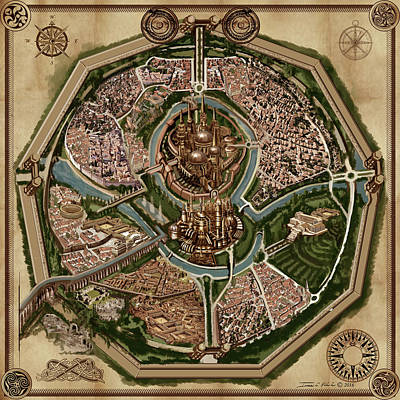 Map Of Ancient City Of Drith Poster