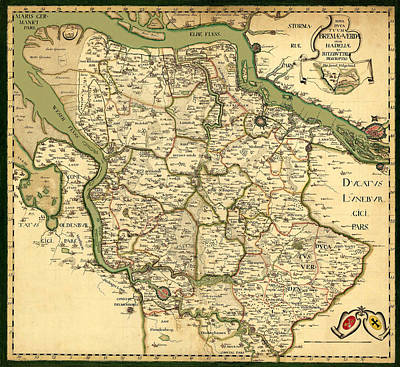 Map Of Germany 1750 Poster by Andrew Fare