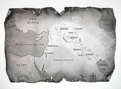 Map Of Mesopotamia Poster