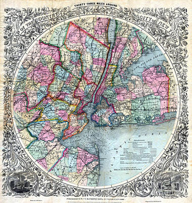 1879 New York City Map Poster