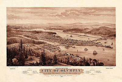 Map Of Olympia 1879 Poster by Andrew Fare