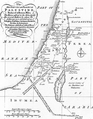 Map Of Palestine Poster by English School