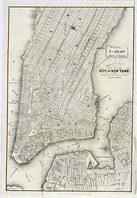 Map Of The City Of New York 1860 Poster
