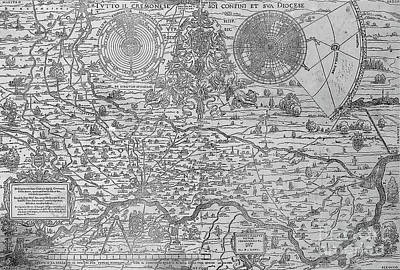 Map Of The Town And Diocese Of Cremona, 1571 Poster