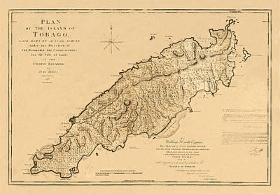 Map Of Tobago 1776 Poster