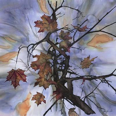 Maple Autumn Splash Poster by Carolyn Doe