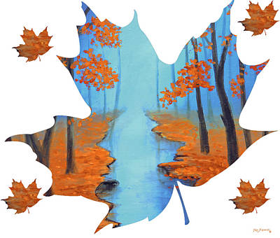 Maple Leaf Cool Warmth Of Autumn Poster by Ken Figurski