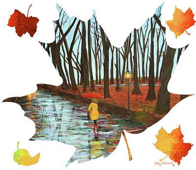 Maple Leaf End Of Autumn Poster by Ken Figurski