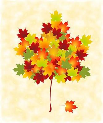 Maple Leaves Poster by Anastasiya Malakhova