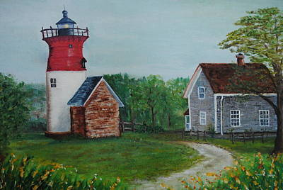Poster featuring the painting Marbelhead Lighthouse by Debbie Baker