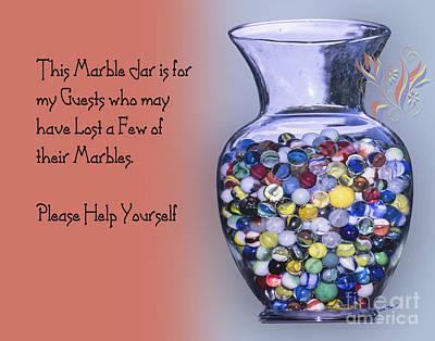 Marble Jar Poster by Linda Troski