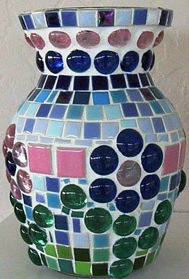 Poster featuring the glass art Marble Vase by Jamie Frier
