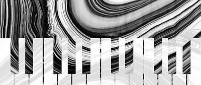 Marbled Music Art - Piano Keys - Sharon Cummings Poster