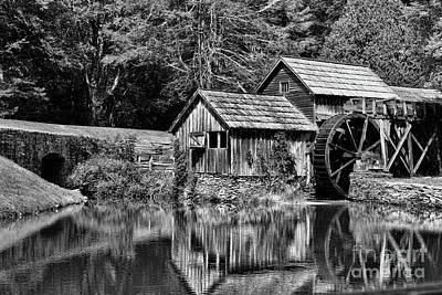 Poster featuring the photograph Marby Mill In Black And White by Paul Ward