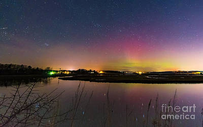 March 6 Aurora Over Scarborough Marsh  Poster