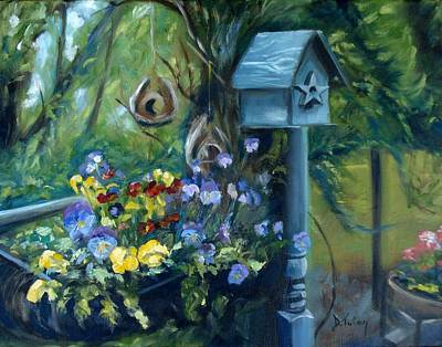 Marcia's Garden Poster by Donna Tuten