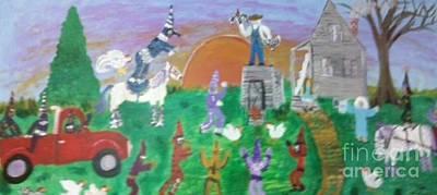 Mardi Gras At Grandma's Poster by Seaux-N-Seau Soileau