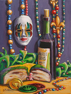 Mardi Gras Still Life King Cake Poster by CB Hume