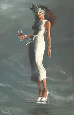 Mardis Gras Woman Poster