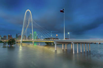 Poster featuring the photograph Margaret Hunt Hill Bridge Dallas Texas by Robert Bellomy