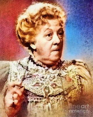 Margaret Rutherford, Vintage Actress Poster