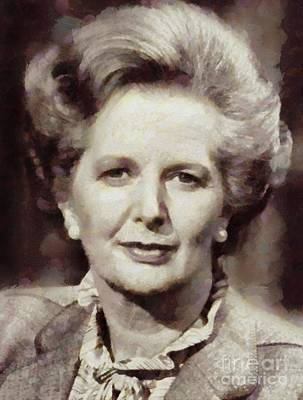 Margaret Thatcher, Prime Minister Of The United Kingdom By Sarah Kirk Poster
