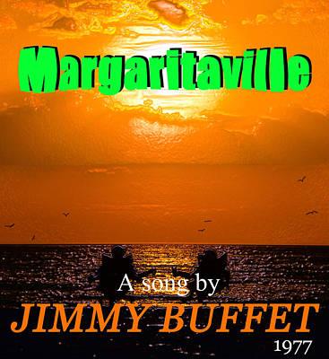 Margaritaville Song Poster Art Poster by David Lee Thompson