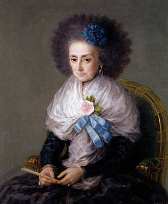 Maria Antonia Gonzaga, Marchioness Widow Of Villafranca Poster by Francisco Goya