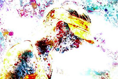 Maria Sharapova Paint Splatter 4p                 Poster