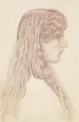 Maria Zambaco Profile Study Poster by Edward Burne-Jones