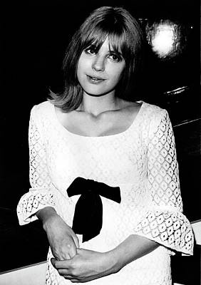 Poster featuring the photograph Marianne Faithfull 1964 No 2 by Chris Walter