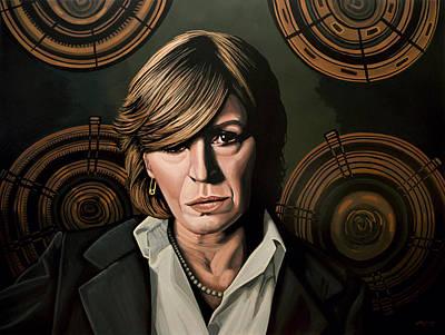 Marianne Faithfull Painting Poster