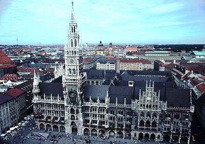 Marienplatz  City Hall Munich Poster by Tom Wurl
