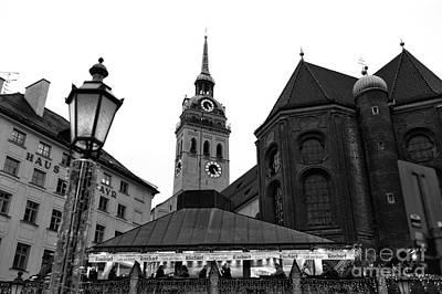 Marienplatz View Poster by John Rizzuto