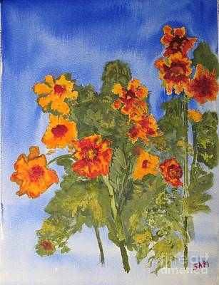 Poster featuring the painting Marigolds by Sandy McIntire