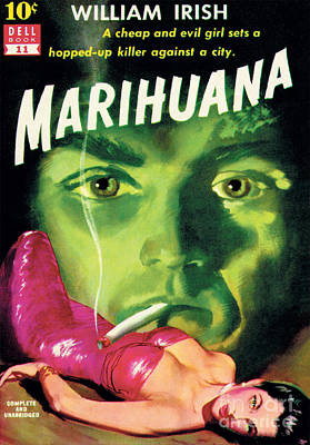 Poster featuring the painting Marihuana by Bill Fleming