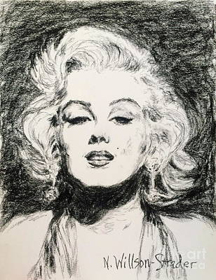 Marilyn, Black And White Poster by N Willson-Strader