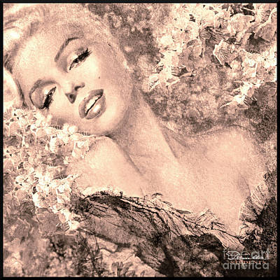 Marilyn Cherry Blossom, B Sepia Poster