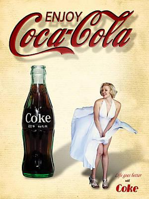 Marilyn Coca Cola Girl 3 Poster