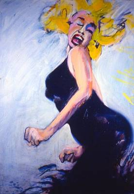 Poster featuring the painting Marilyn Dancing by Les Leffingwell