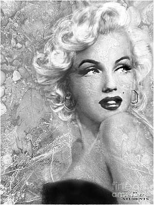 Marilyn Danella Ice Bw Poster by Theo Danella