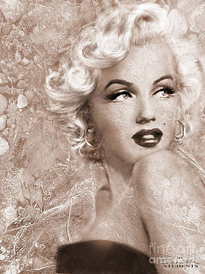 Marilyn Danella Ice Sepia Poster