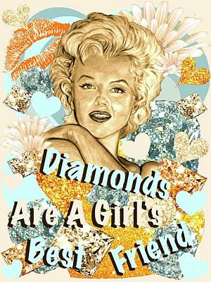 Marilyn Diamonds Are A Girls Best Friend Poster
