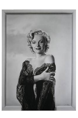 Marilyn In Lace Poster by Terry Stephens