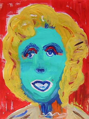 Marilyn M -pink Shadow Poster by Mary Carol Williams