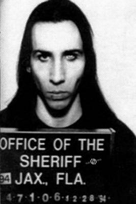 Marilyn Manson Mug Shot Vertical Poster by Tony Rubino