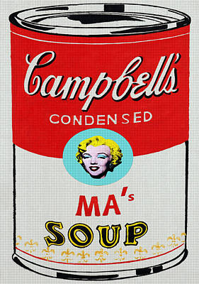 Marilyn Monroe Campbell's Soup Poster by Charlie Ross