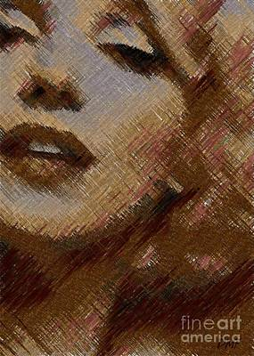 Marilyn Monroe -digital Art Poster by Dragica Micki Fortuna