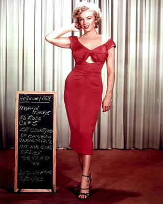 Marilyn Monroe In Gentlemen Prefer Blondes Poster by Georgia Fowler